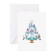 Oh Chemistry, Oh Chemist Tree Greeting Cards