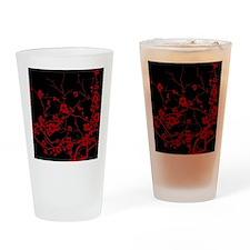abstract zen artistic plum flower f Drinking Glass