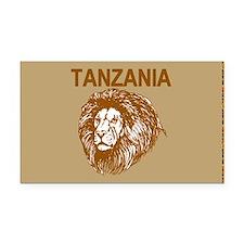 Tanzania With Lion Rectangle Car Magnet