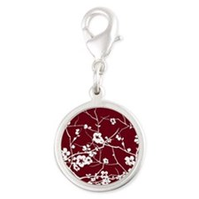 abstract zen artistic plum flower floral Charms