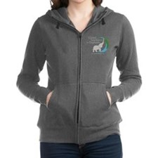 Women's Zip Hoodie With Chest Logo-Dark Colors