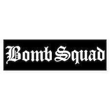 Bomb Squad Bumper Car Sticker