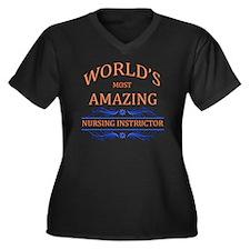 Nurse Women's Plus Size V-Neck Dark T-Shirt