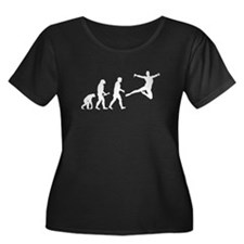 Leaping Evolution Plus Size T-Shirt