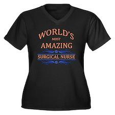 Surgical Nur Women's Plus Size V-Neck Dark T-Shirt