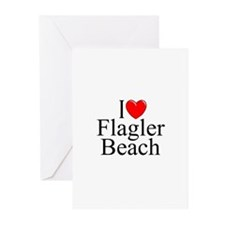 """""""I Love Flagler Beach"""" Greeting Cards (Package of"""