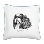 English Toy Spaniel Square Canvas Pillow