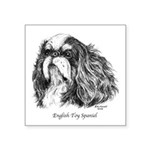 English Toy Spaniel Square Sticker 3