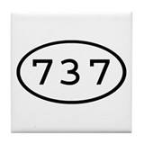 737 Oval Tile Coaster