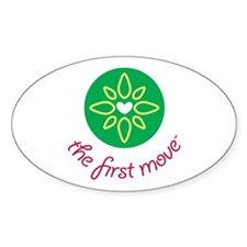 The First Move Oval Decal
