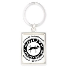 Cute Dog agility Portrait Keychain