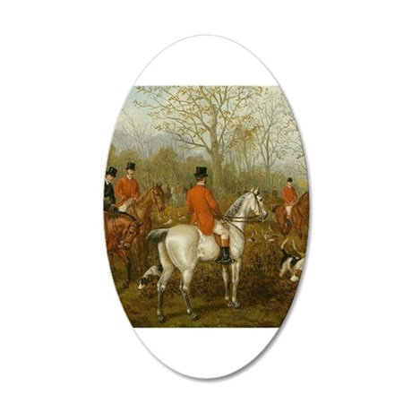 Starting the Hunt 20x12 Oval Wall Decal