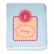 Whimsical Owl baby blanket