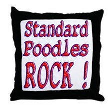 Standard Poodles Throw Pillow