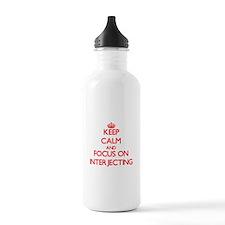 Cute I heart interjections Water Bottle