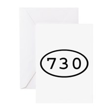 730 Oval Greeting Cards (Pk of 10)