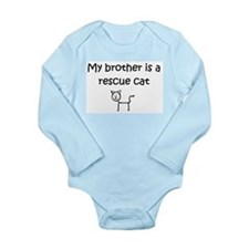 Cute Cat adoption Long Sleeve Infant Bodysuit