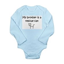 My Brother is a rescue_cat_no logo Body Suit
