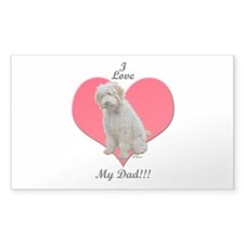 Golden Doodle Love Dad Rectangle Decal