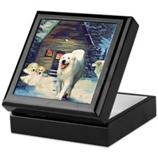 Great Pyrenees Christmas Keepsake Box