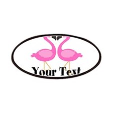 Personalizable Pink Flamingos Patches