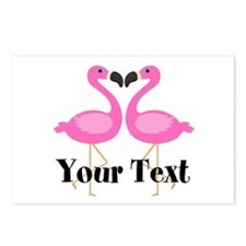 Personalizable Pink Flamingos Postcards (Package o