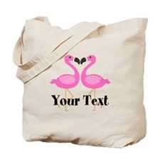Personalizable Pink Flamingos Tote Bag