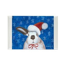 Cute Rabbit christmas Rectangle Magnet