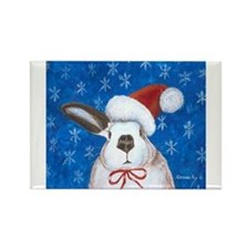 Unique Rabbit christmas Rectangle Magnet