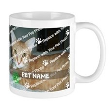 Customize Add Pet Photo And Name (center) Mugs