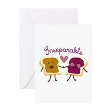 Inseparable Sandwich Greeting Cards