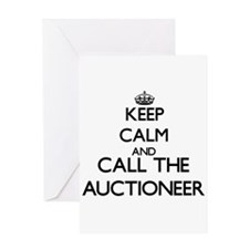 Keep calm and call the Auctioneer Greeting Cards