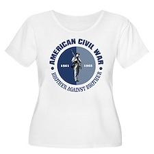American Civil War Plus Size T-Shirt