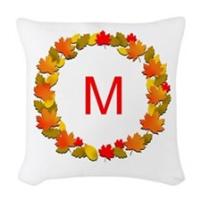 Autumn Monogram Woven Throw Pillow