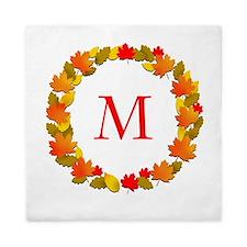 Autumn Monogram Queen Duvet