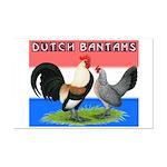 Dutch Bantams Mini Poster Print