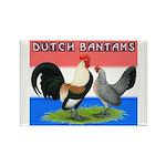 Dutch Bantams Rectangle Magnet