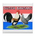 Dutch Bantams Tile Coaster