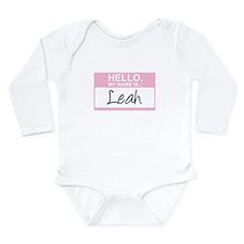 Cute Girl name Long Sleeve Infant Bodysuit