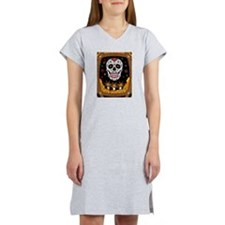 Sugar Skull With Candles Women's Nightshirt