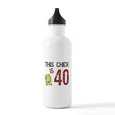 Cute 40 birthday women Water Bottle