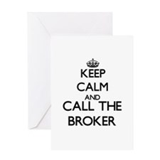 Keep calm and call the Broker Greeting Cards