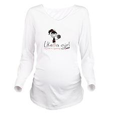 Basketball ~ Like A Long Sleeve Maternity T-Shirt