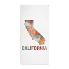 Funny State map Beach Towel