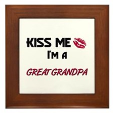 Kiss Me, I'm a GREAT GRANDPA Framed Tile