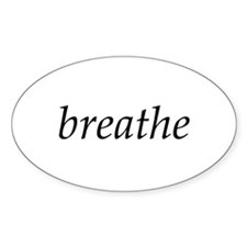 breathe - Oval Decal
