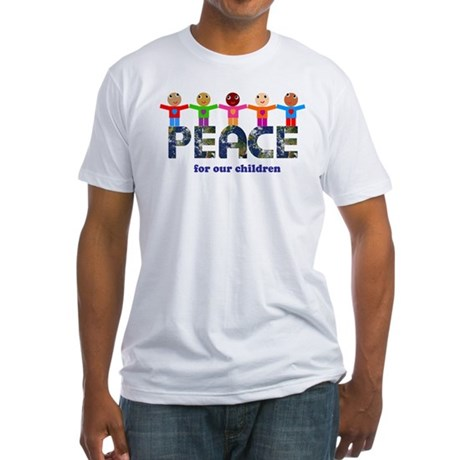 Peace for our children Men's Fitted T-Shirt