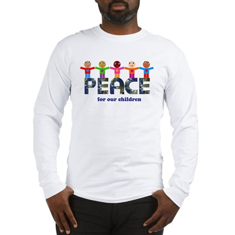 Peace for our children Men's Long Sleeve T-Shirt