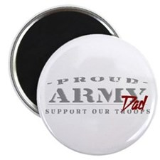 Proud Army Dad (red) Magnet