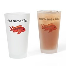 Custom Red Snapper Fish Drinking Glass